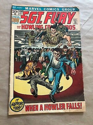 Sgt. Fury And His Howling Commandos #100 (Marvel,1972) **