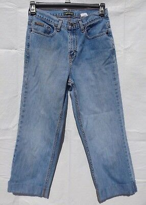 Eddie Bauer Denim Mom Jeans Cropped Cuffed High Waisted 1990's Size 7