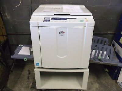 Riso RZ220 High Speed Digital Duplicator FULLY TESTED Low Meter EXCELLENT PRINTS