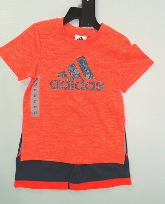 Adidas 2 Piece Active Set for Boys - Short Sleeve T-Shirt, Short, Variety   C15