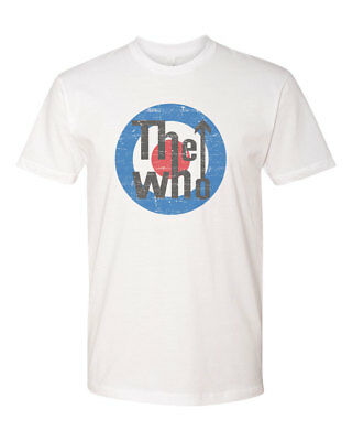 The Who Distressed Custom Mens T-Shirt Tee S-3XL New-White
