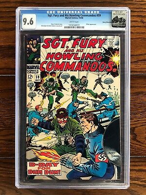 Sgt. Fury Howling Commandos #59 - CGC 9.6 NM+ (1968) - White Pages