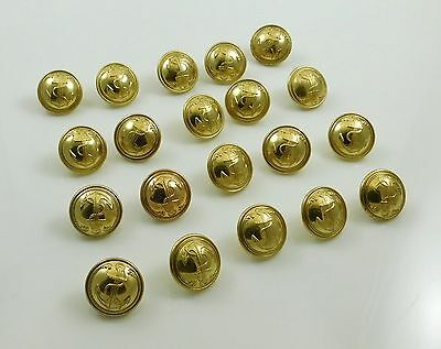 20 French Vintage Navy Military Brass Gilt Button T W & W 20mm Paris Anchor NOS