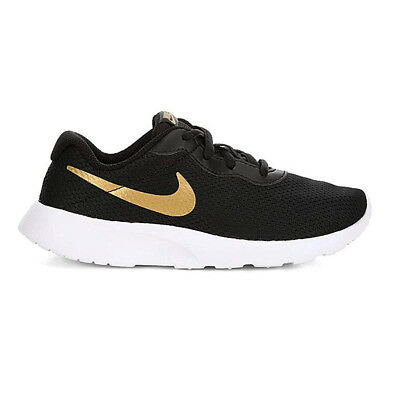 5bd7e2b2cc6 Nike Tanjun (Ps) Black Metallic Gold White 818382 016 Kids Us Sizes