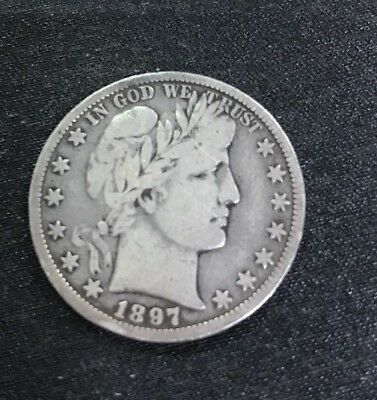 1897 O Silver Barber Half Dollar $.50 New Orleans Better Key Date Coin Rare