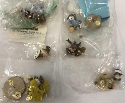 Lot of 6 DAMAGED BROKEN Wee Forest Folk Figures Figurines