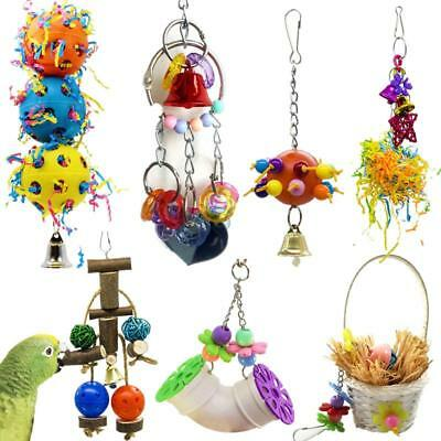 Pet Bird Parrot Swing Cage Toy Chew Bites Parakeet Cockatiel Budgie Cockato Toys