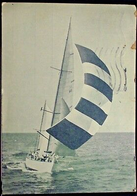 CORSARO II - Italian Navy Special Yacht for sailing training viaggiata nel 1965