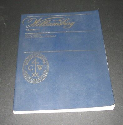 Williamsburg Reproductions Book, Craft House, 1982