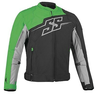 Men's Motorcycle Jacket SMALL Speed Strength Hammer Down Textile Green Accent
