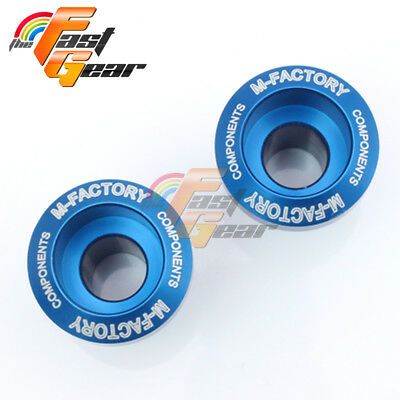 CNC Blue Billet Motorcycle Swingarm Spools Fit Kawasaki Ninja 250R 2008-2012
