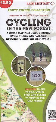 Cycling In The New Forest Map - New - Cycle - Walk - Little Map Company