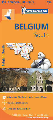 Belgium South Map - New Michelin 534 Regional Map - Current Edition