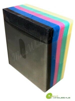 100 Non Woven CD DVD Multi Color Double Sided Plastic Sleeve - HOLD 200 discs