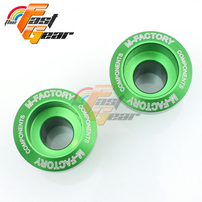 CNC Green Billet Motorcycle Swingarm Spools Fit Kawasaki Ninja 250R 2008-2012