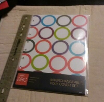 ARC Rollabind DiscBound Interchangeable PolyCover-6 1/4 X 8 3/4 Circles