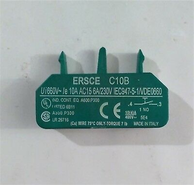 Ersce/ Ee Controls Micro Switch C10B Green Normally Open No 660V 10A