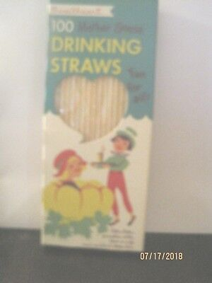 Vintage Sweetheart 100 Count Mother Goose Drinking STRAWS MARY QUITE CONTRARY