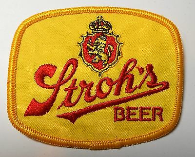 """Stroh's Beer  Patch 3-1/2"""" inches Vintage"""