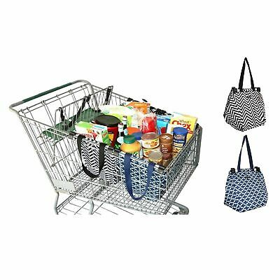 NEW SACHI SHOPPING TROLLEY BAG Reusable Eco Friendly Grocery Cart 2 STYLES