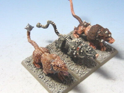 Warhammer Fantasy Battle Chaos Hounds x3 Painted Metal Citadel Games Workshop
