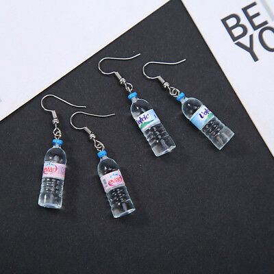 Cute Women Alloy Mineral Water Bottle Earrings Dangle Ear Hook Earrings Jewelry