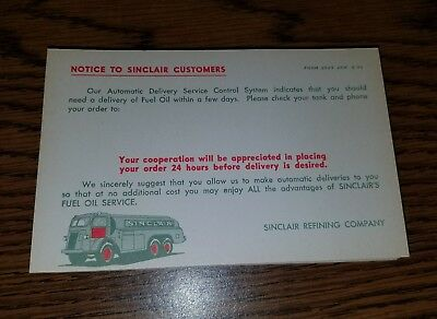 LOT of (50) SINCLAIR OIL Fuel Delivery Reminder Postcard Petroliana RARE