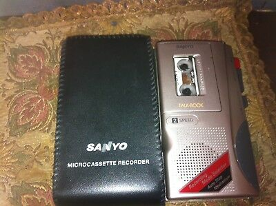 Sanyo 2-speed microcassette recorder model sum-3 R6 HP7 great working condition