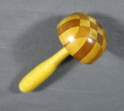 ANTIQUE SOCK DARNER Checkerboard Wood Pattern Made in Germany UNIQUE AND UNUSUAL