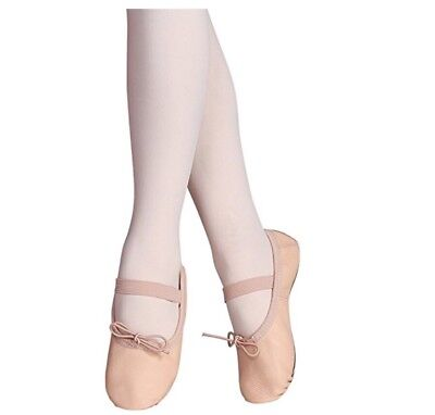STELLE Premium Leather Ballet Slipper/Ballet Shoes 9.5M Toddler. Nude. NEW