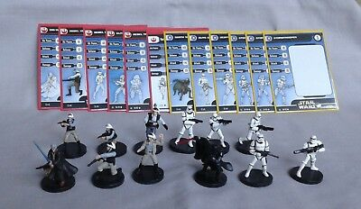 Star Wars Miniatures - Lot of 12 - Starter Set Minis loose plus extra Commons
