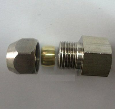 """Compression 5//16/"""" or 8mm Tube OD x 3//8/"""" BSPP BSP Male Pipe Brass Fitting P-DNE9"""