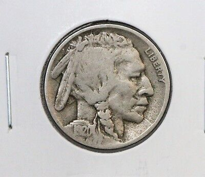 1920-D 5C Buffalo Nickel VG BETTER DATE NICE ALBUM COIN FREE SHIPPING