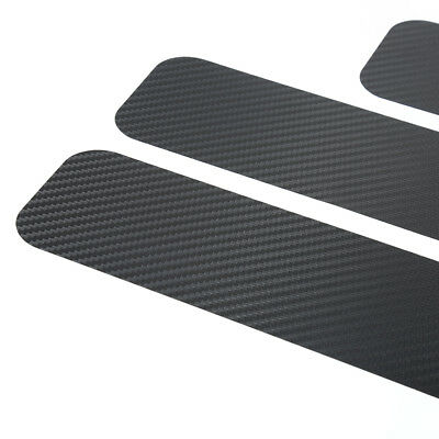4pcs Car Door DIY Carbon Fiber Anti-slip 3D Stickers for Detailing Accessories