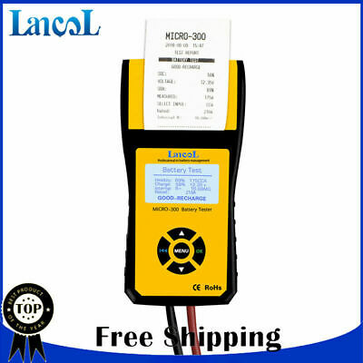 Digital CCA Car Battery Load Tester Analyzer 12V with printer + USB cable Lancol