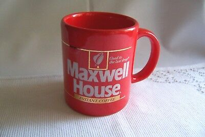 Maxwell House Instant Coffee Mug Cup Bright Red