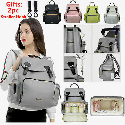 LAND Waterproof Diaper Bag Multifunction Travel Backpack Maternity Nappy Bag