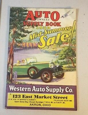 AUTO OWNER'S SUPPLY BOOK Western Auto Supply Company 1929