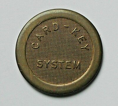 Vintage Card-Key System Courtesy Parking Token (missing INC. variety)