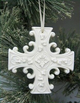 Margaret Furlong Porcelain Everlasting Hope Cross Ornament NEW in Box Free Ship