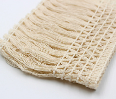 Cream 10cm Trim Tassel Fringe Cotton Lace Ribbon Price per 30cm DIY Craft