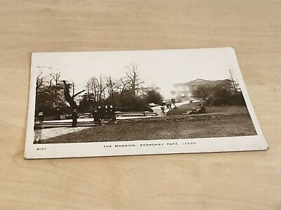 Early 1900s Kingsway Real Photo Postcard The Mansion, Roundhay Park Leeds