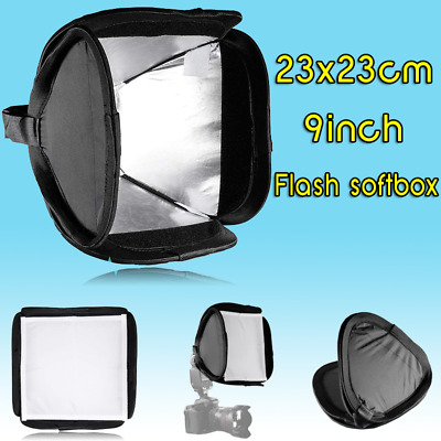 INSEESI 23x23cm Mini Portable 9inch Flash softbox diffuser for flash speedlite
