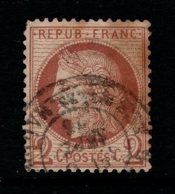 France 1870 2c brown SG 187 Used