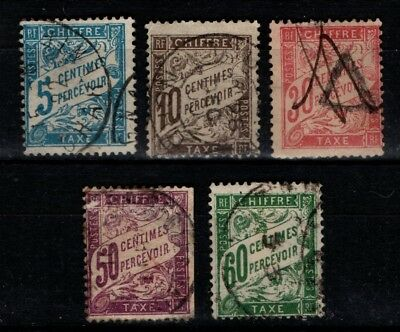 France 1893 1920 1941 Postage Due selection to 60c  Used