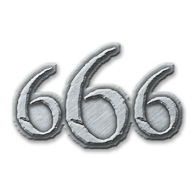 666 Metal Pin Button Badge Satan Satanic Devil Number Of The Beast