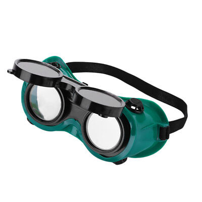 Welding Cutting Welders Safety Goggles Flip Up Dark Lenses Green Protective