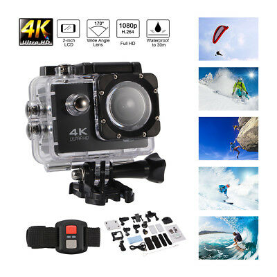 Ultra HD 4K 1080P Action Camera 30M Waterproof Wifi Sport Cam DV Camcorder AH390