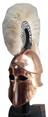Medieval Wearable Greek Corinthian Helmet Free Leather Liner Knight Helmet GIFT