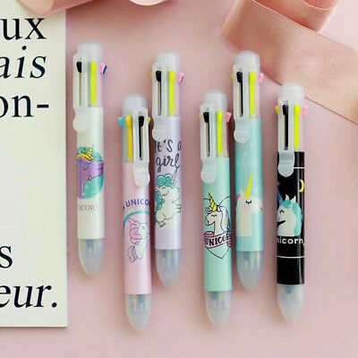 2/5PCS Unicorn 8 Colors Chunky Ballpoint Pen School Office Supply Stationery